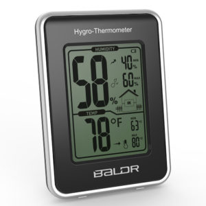 Jual Baldr New Electronic Thermometer Hygrometer Station with Current Humidity and Temperature Indicator Digital Display