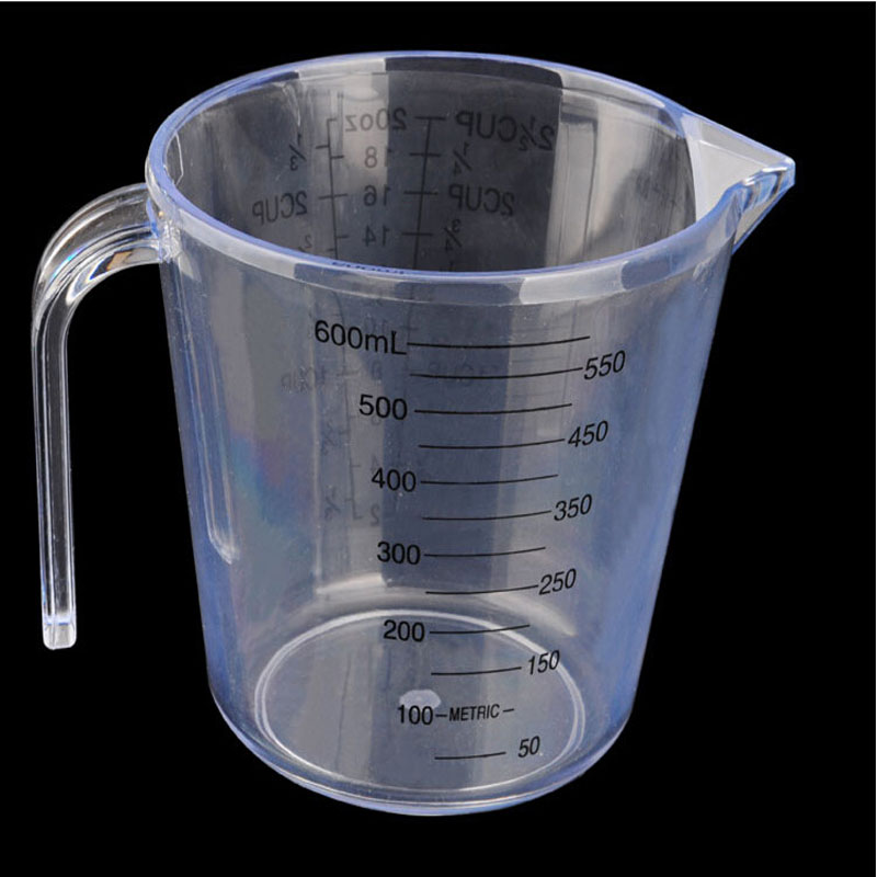Jual lastic measuring cup 600ml jug pour surface kitchen for Surface container