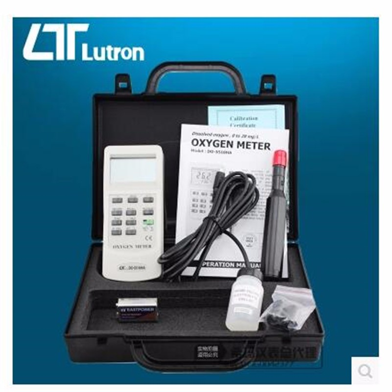 Jual DO-5510HA Oxygen Meter Tester Detector Oxygen(DO) Dissolved in air(O2)Lutron