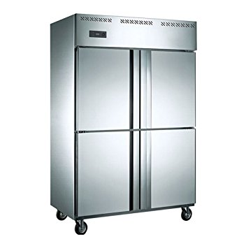 Jual 1000 Liter 4-Door Restaurant Kitchen Commercial Stainless Steel Refrigerator Upright Freezer Fridge Reach-in Cabinet Double-Temperature Cold Storage & Freezing 35 cubic feet